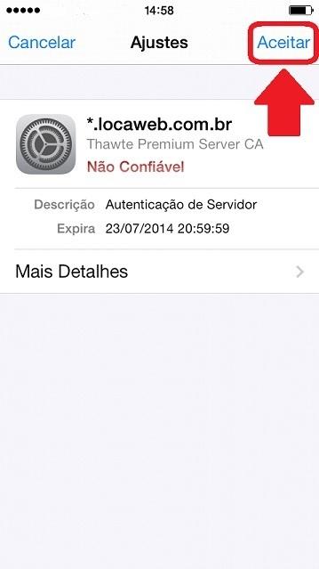 Configurar Email no IPhone - Passo 11