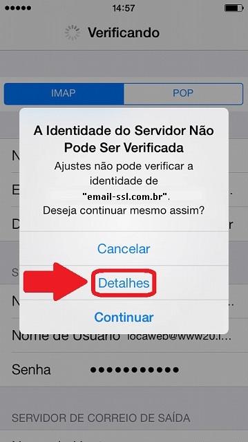 Configurar Email no IPhone - Passo 10