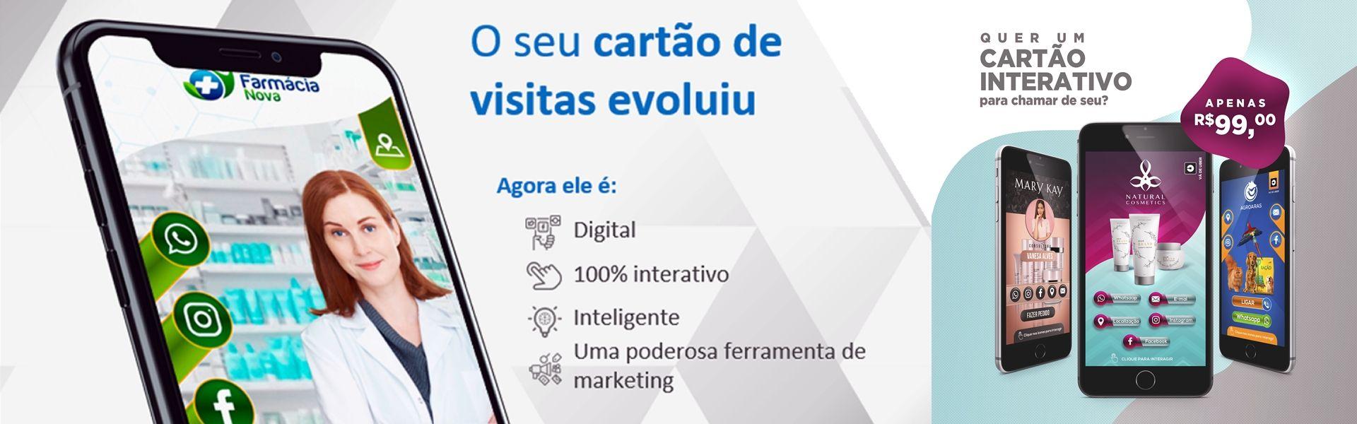 cartão de visita interativo 100% digital