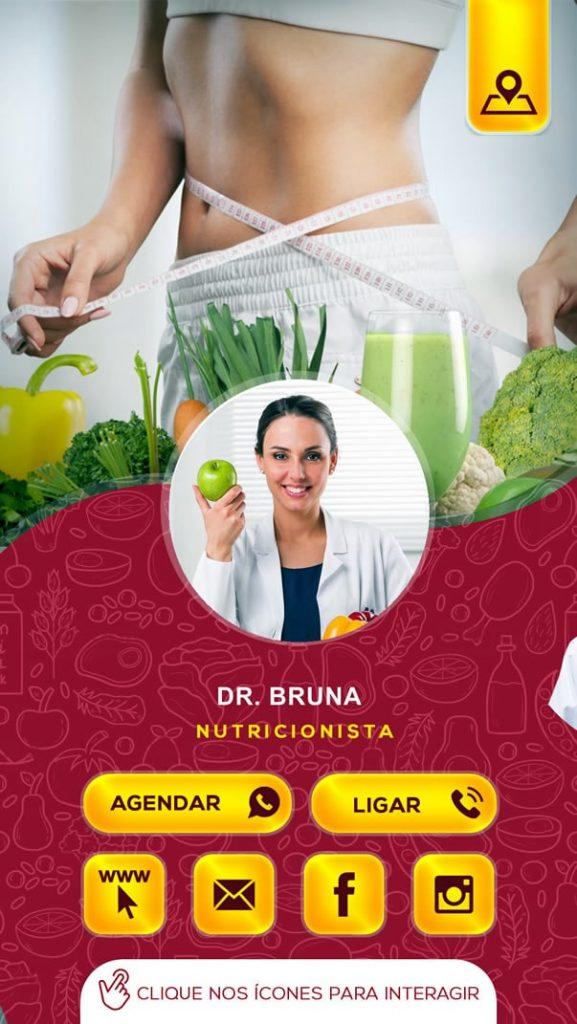 cartão interativo nutricionista